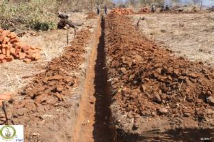 Digging school foundation