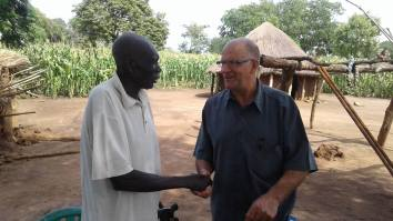 Jim meeting Chief Jildo in 2016