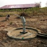 School at the rear of the borehole