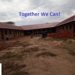 School building newly roofed.